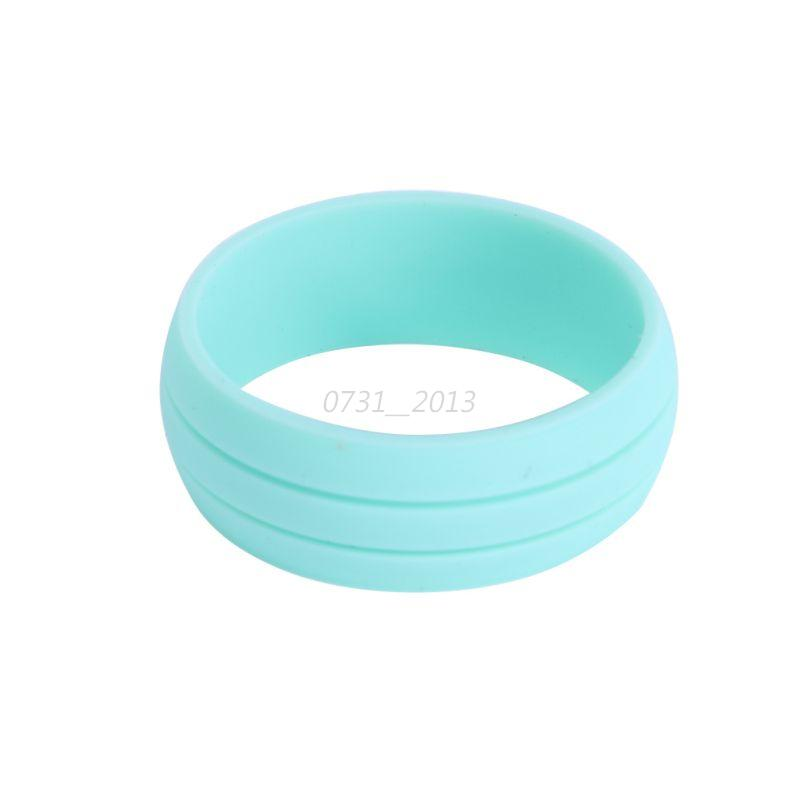 Rubber Band Wedding Rings >> Candy Colors Rubber Silicone Ring Outdoor Party Wedding ...