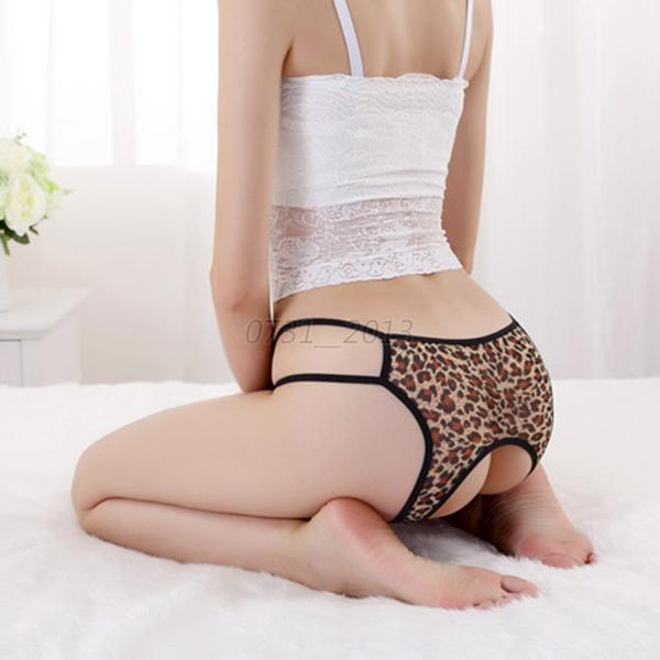1 PCS Ladies Cozy Sexy Open Crotch Thong G-string Knickers Lingerie Underwear