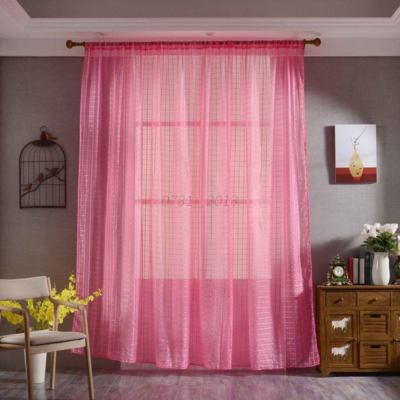 Home Sheer Voile Window Curtain Drape Door Screen Valances Living ...