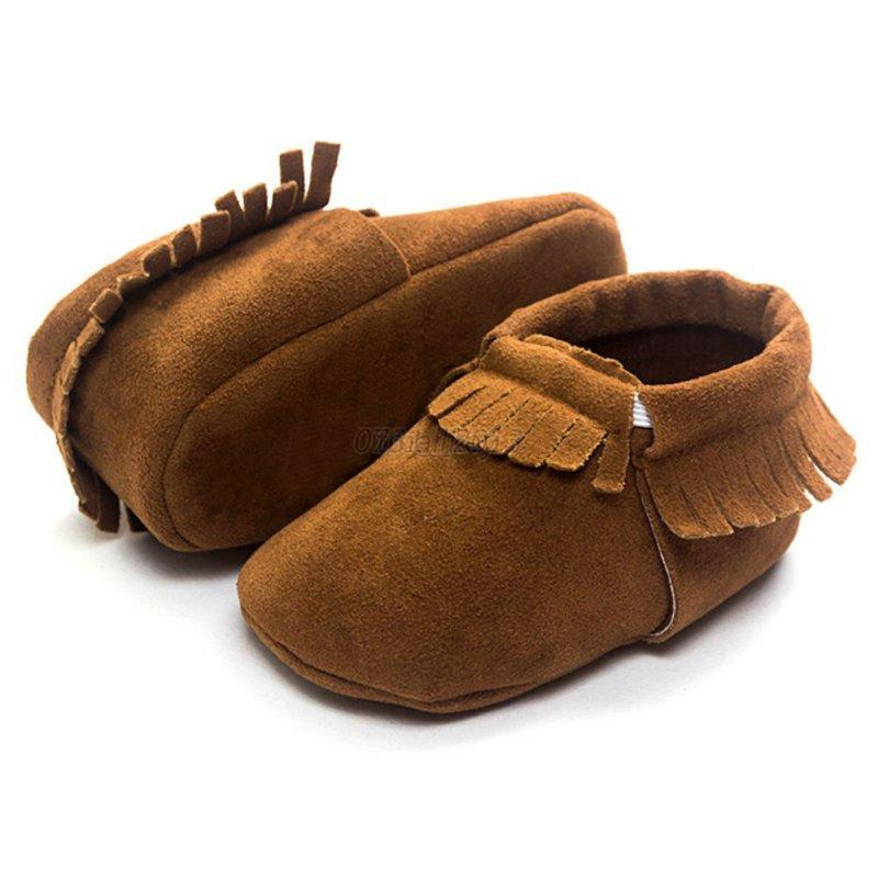 Cute Baby Kids Boys Girls Tassel Leather Shoes Toddler ...