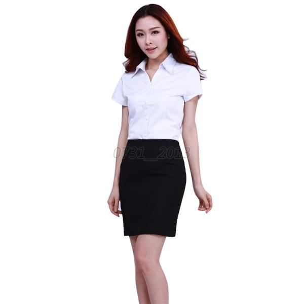 Fashion women ol white formal long sleeve button down for Womens white button down shirt
