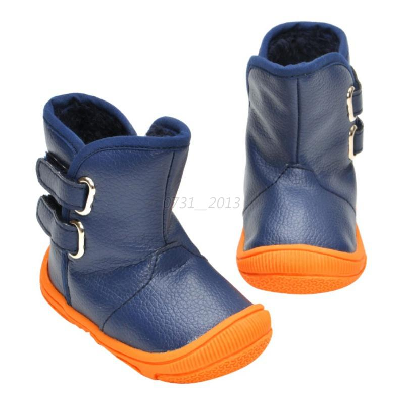 baby boy waterproof warm pu leather boots toddler