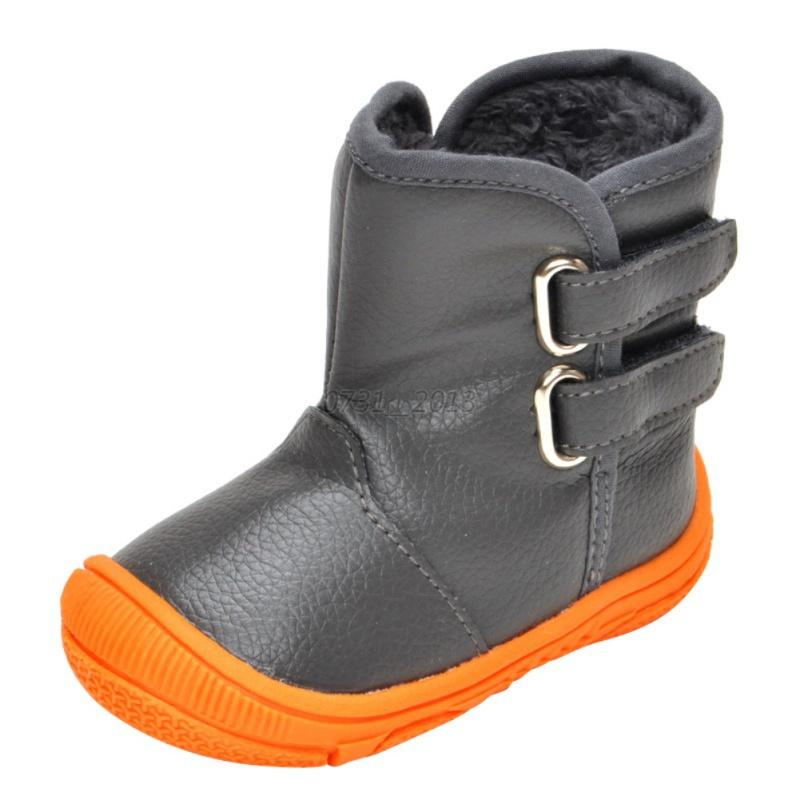 BABY BOY GIRLS Waterproof Warm PU Leather Boots Toddler ...