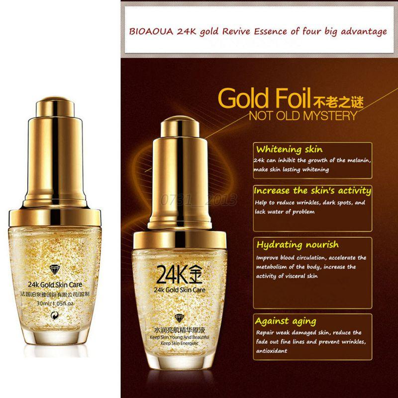 Description. Skin Care Pure 24K Gold Essence Day Cream Anti Wrinkle Face Anti Aging Collagen Whitening ...