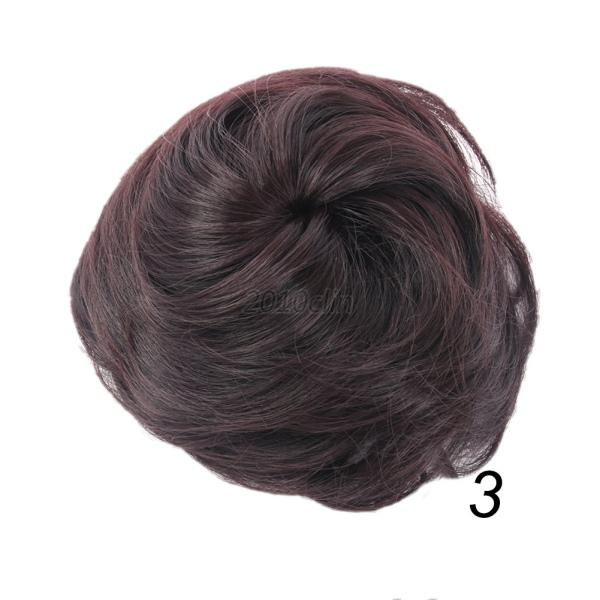 women clip in hair bun extension hairstyling hair