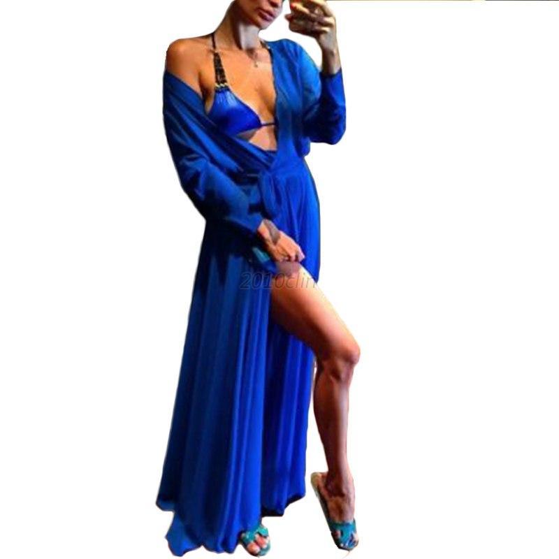 Lady-Beach-Bikini-Cover-Up-Dress-Chiffon-Cardigan-Dress-Long-Maxi-Top-Beach-Wear