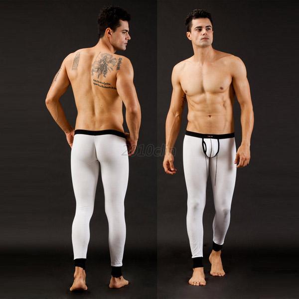 Men Low Rise Underwear Long Johns Thermal Pants Modal Trousers ...