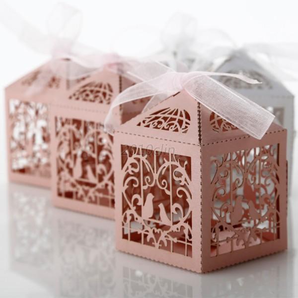 Wedding No Gift Box : ... Heart Bird Party Wedding Favor Candy Gift Boxes 50Pcs/set C29 eBay