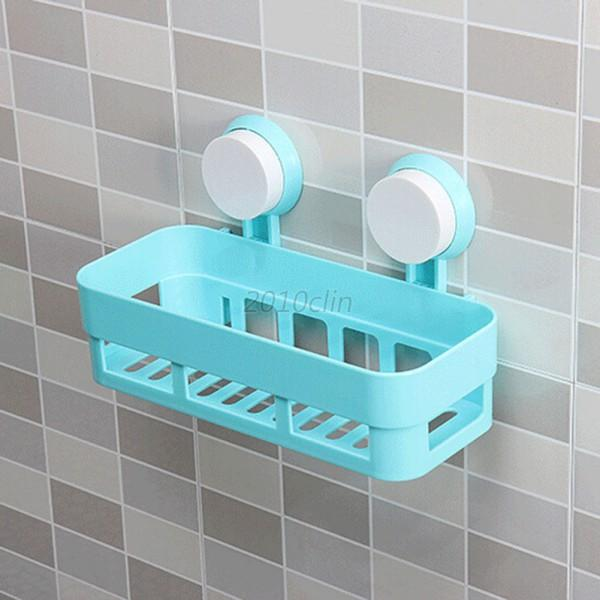 Plastic Bathroom Corner Shelf Suction Shower Bath Soap