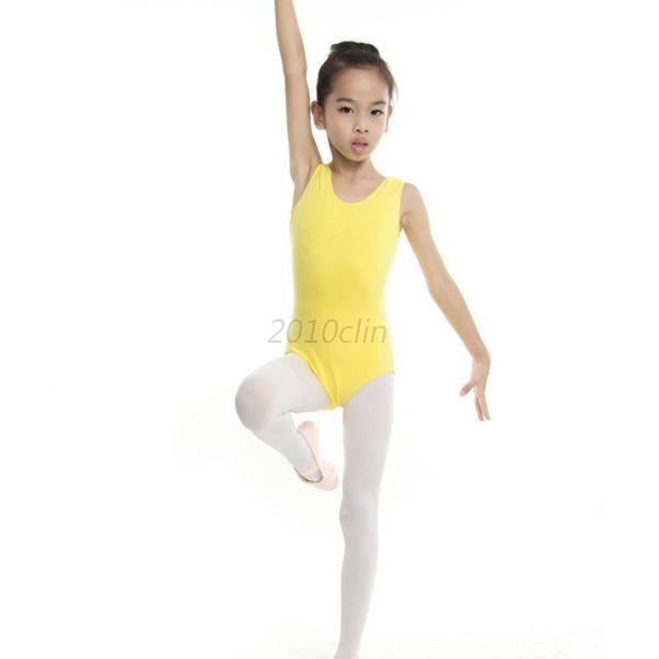 Kids-Girls-Leotard-Ballet-Gymnastics-Dance-Dress-Sleeveless-Bodysuit-Dance-Dress