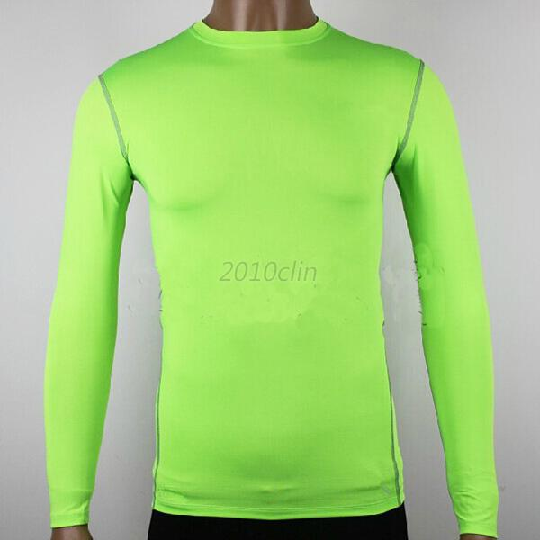 Women mens sports compression base layers tops tight t for Womens base layer shirt