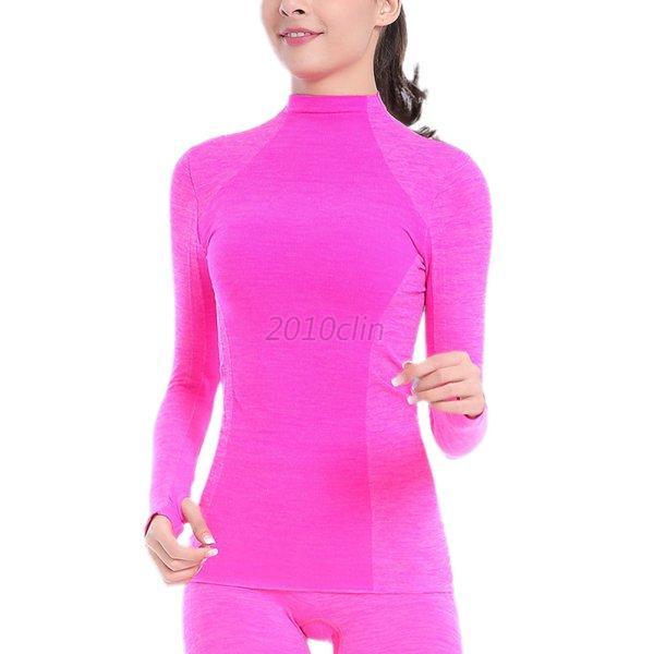 Womens-Sport-Running-Long-Sleeve-T-Shirt-Thermal-Quick-Dry-Baselayer-Yoga-Top-UK