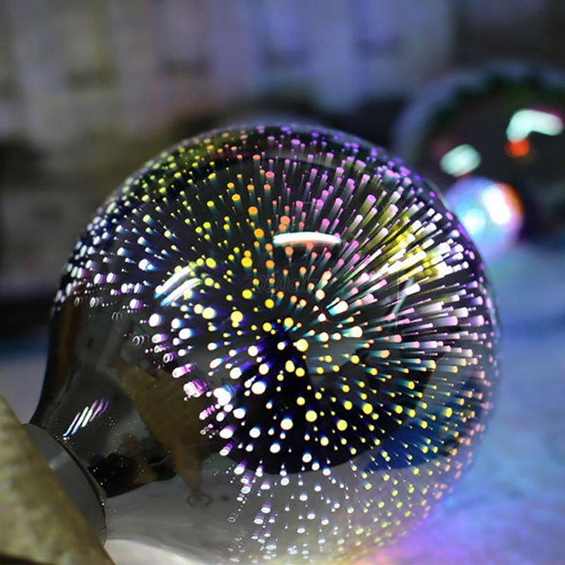 3D-Firework-Star-Silver-Glass-LED-Bulb-Colourful-Light-Retro-85-265V-A60-G80-G95