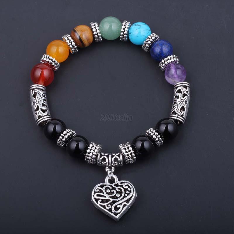 7-Chakra-Gemstone-Beads-Delicate-Bracelet-Yoga-Reiki-Healing-Balance-Jewelry