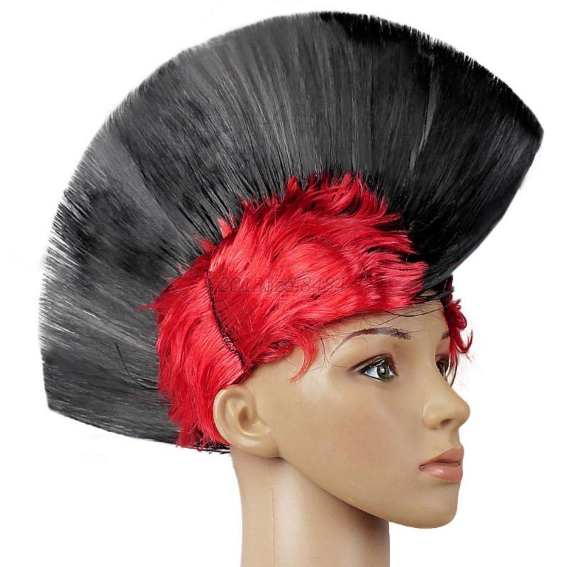 hot rainbow mohawk hair wig fancy costume punk rock wigs