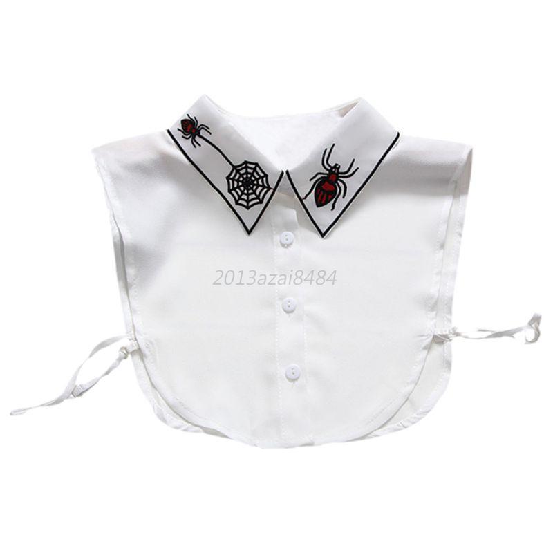 Women-Girls-Fake-False-Collar-Detachable-Lady-Shirt-Peter-Pan-Choker-Necklace
