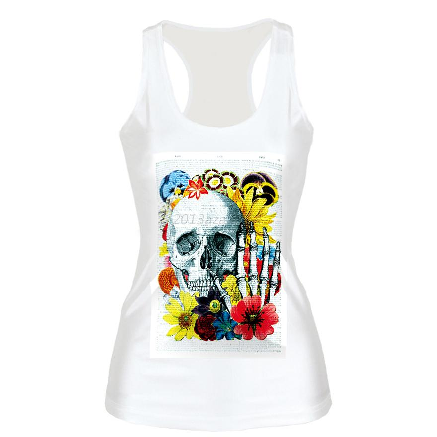 Stylish-Women-039-s-Sleeveless-Tank-Top-Vest-Blouse-Gothic-Punk-Fashion-Print-Shirt