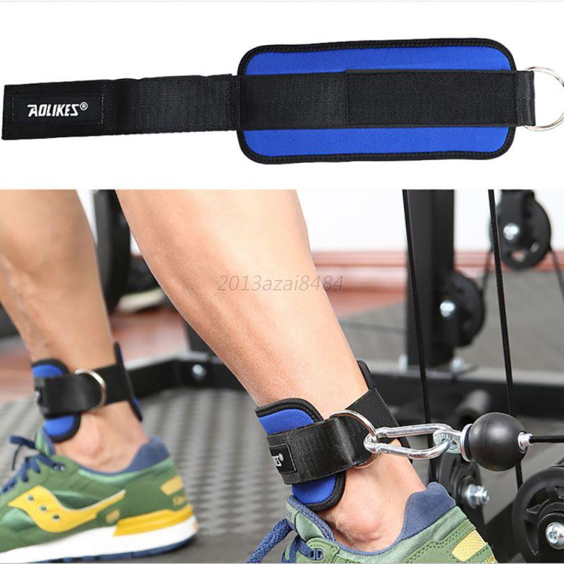 Adjustable-Gym-Sports-Ankle-D-Ring-Strap-Leg-Thigh-Pulley-Lifting-Accessory-US thumbnail 16