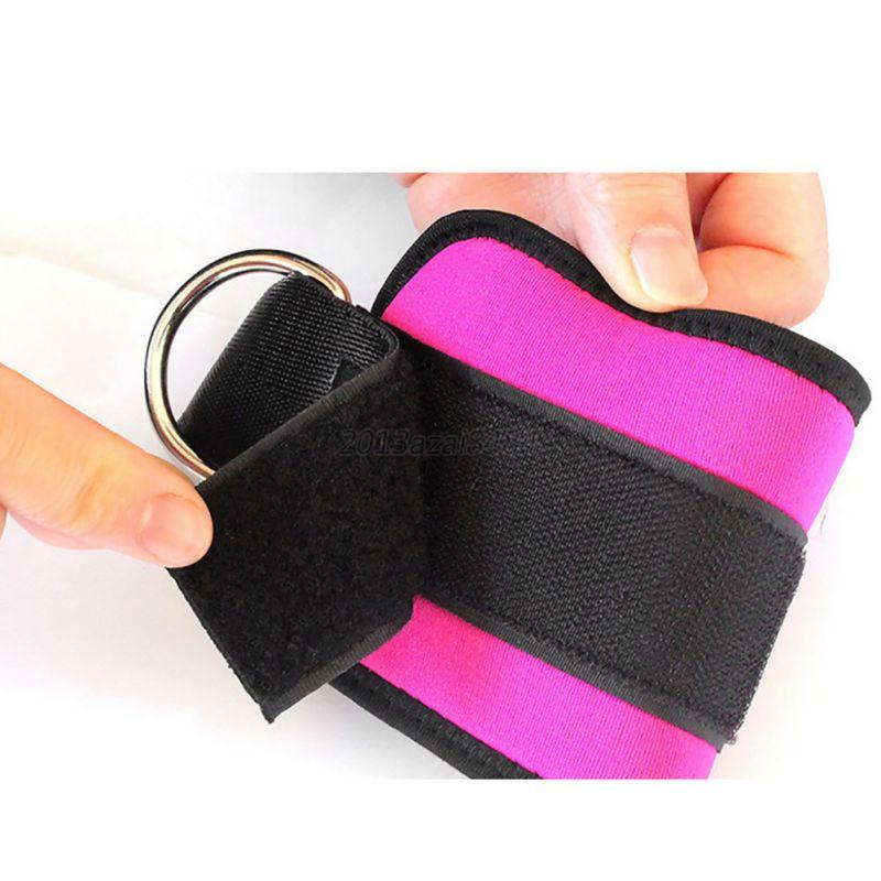 Adjustable-Gym-Sports-Ankle-D-Ring-Strap-Leg-Thigh-Pulley-Lifting-Accessory-US thumbnail 22