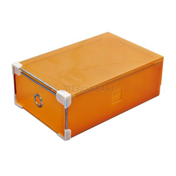 Drawer Style Colorful Plastic Shoes Storage Box Boot Foldable Holder Cases Cover Ebay