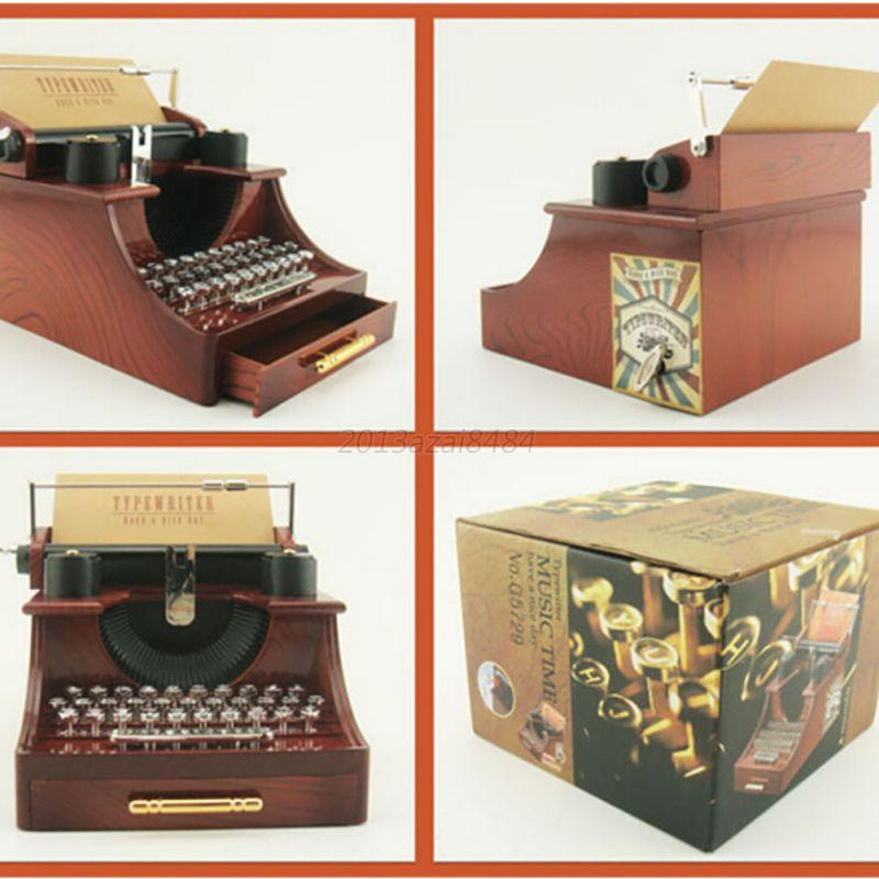 Vintage typewriter music box for home office mechanical for Retro house music