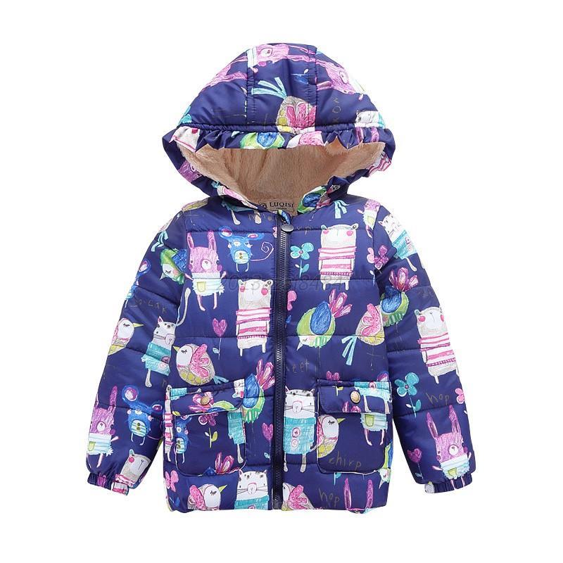 toddler baby boy girl winter hooded clothes floral coat. Black Bedroom Furniture Sets. Home Design Ideas