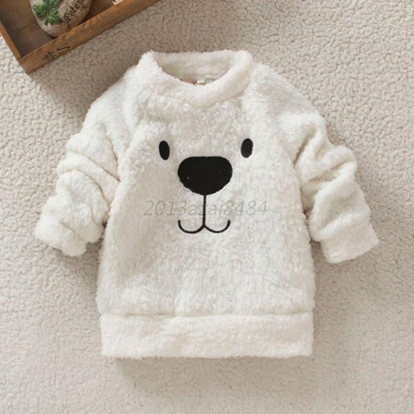 baby jacket child clothing cartoon bear furry white coat. Black Bedroom Furniture Sets. Home Design Ideas