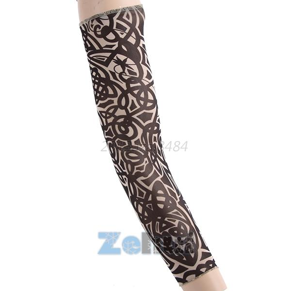 Cool men tattoo uv block arm sleeves cover sun protection for Tattoo cover sleeve target