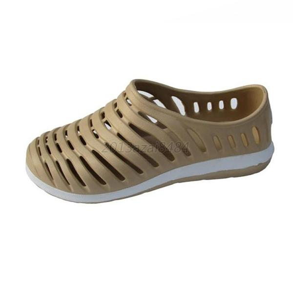 hollow rubber shoes flats casual slip on
