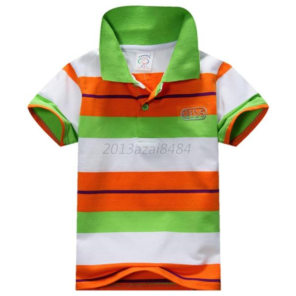 Baby-Boy-Kid-Tops-T-Shirt-Summer-Short-Sleeve-T-Shirt-Striped-Polo-Top-Clothing