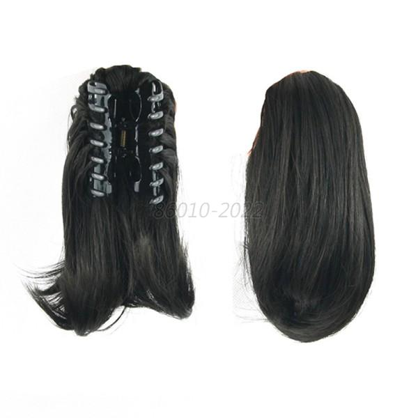 Fashion Short Straight Hair Clip In Hair Extension Claw On