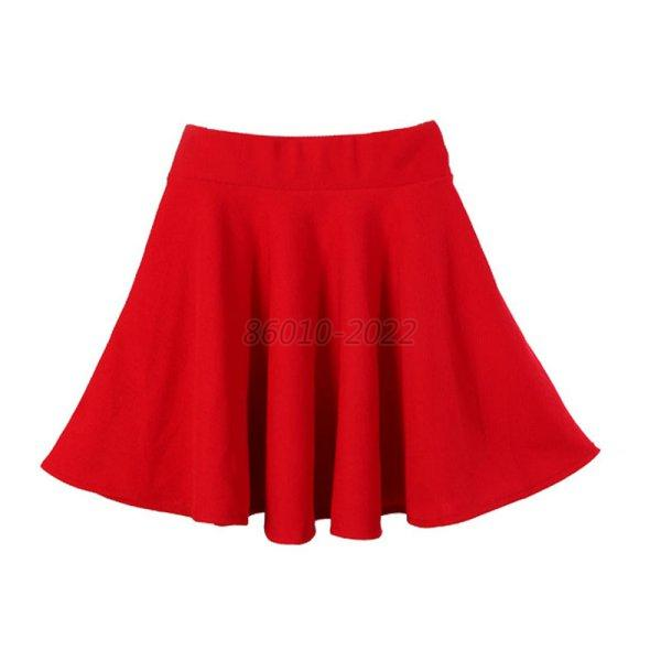 Women-High-Waist-Stretch-Skater-Mini-Skirt-Flared-Pleated-A-Line-Short-Dress-New