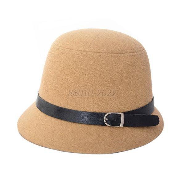 vintage womens fedora wool felt wide brim bowler hat