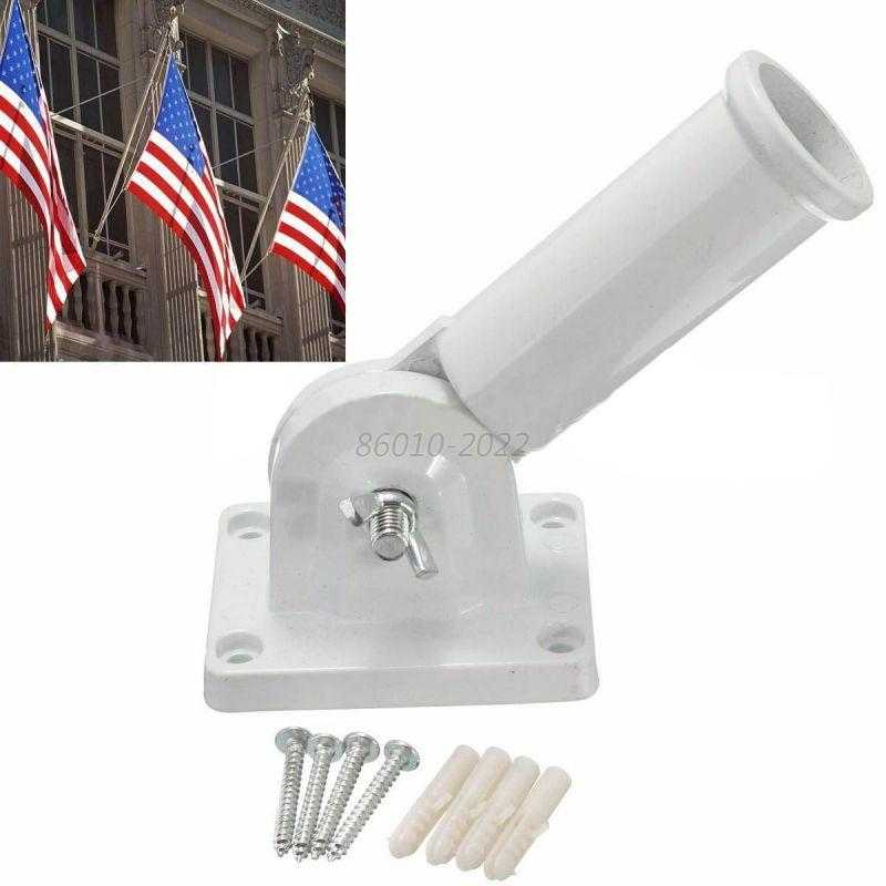 Flag Pole Wall Mount Metal Flagpole Decoration Holder For