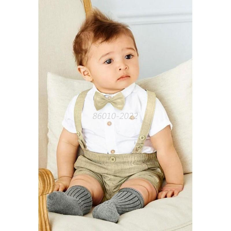 Boy Baby Wedding Formal Suit Bowtie Gentleman Romper Tuxedo Newborn