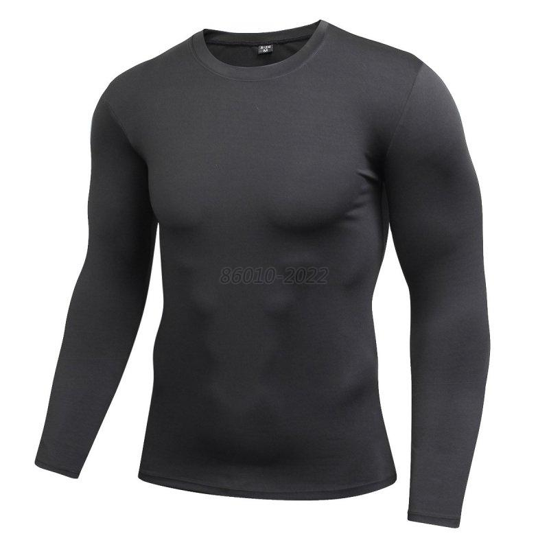 Men boy long sleeve compression under base layer top tight for Long sleeve sports shirt