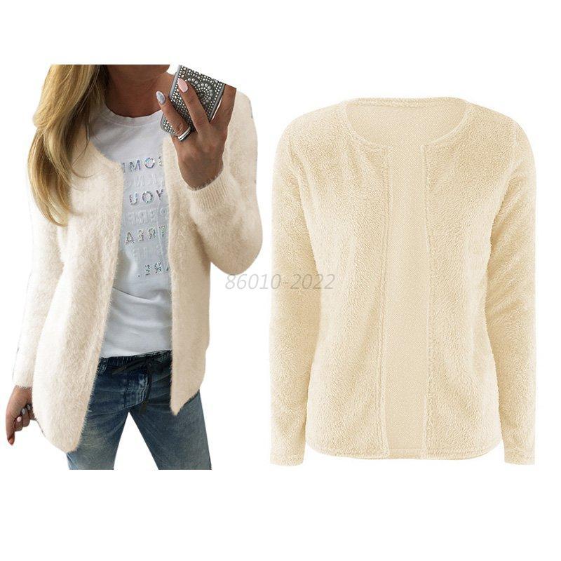 Tendy Women Long Sleeve Soft Cardigan Knitted Sweater Short Sweater Jacket Coat