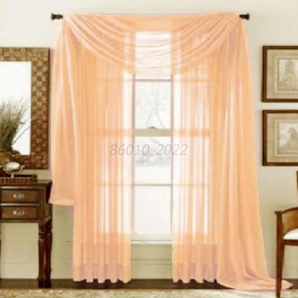 Hot Solid Sheer Curtain Window Curtains Bedroom Voile