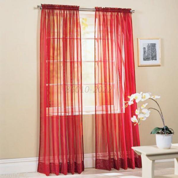 Bedroom Curtains And Drapes: Hot Solid Sheer Curtain Window Curtains Bedroom Voile