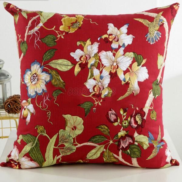 floral pillow case cushion cover car home sofa throw