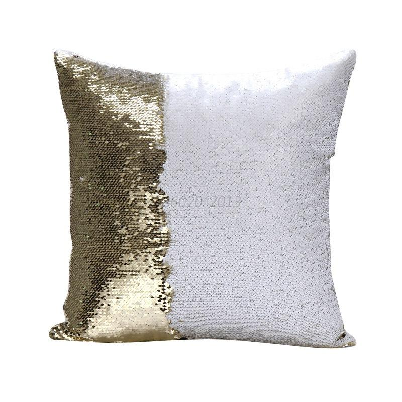 Diy Gold Throw Pillow : DIY Glitter Sequins Throw Pillows Cases Home Sofa Car Decorative Cushion Covers eBay