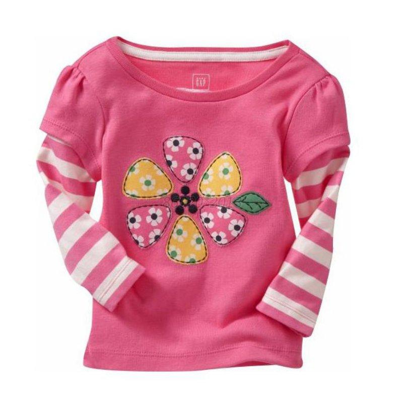 Girls baby kids tops clothes long sleeve casual cartoon for Toddler t shirt printing