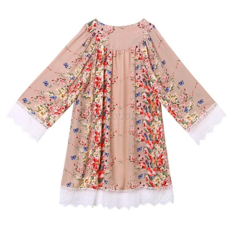 AU-Women-Lady-Lace-Chiffon-Floral-Kimono-Jacket-Coat-Cardigan-Beach-Blouse-Tops