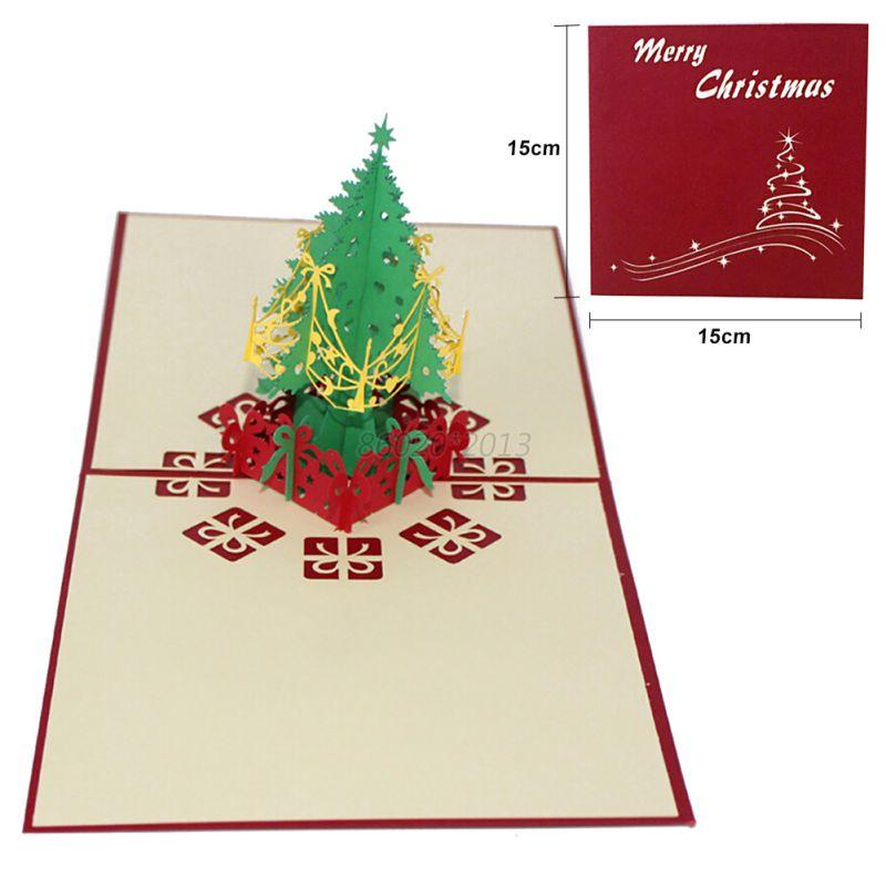 Au 12 styles 3d pop up christmas cards personalized for 3d christmas cards to make at home