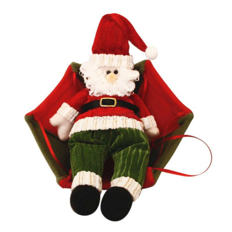 Santa Claus Decorations Uk: Christmas Tree Hanging Decor Parachute Snowman Santa Claus