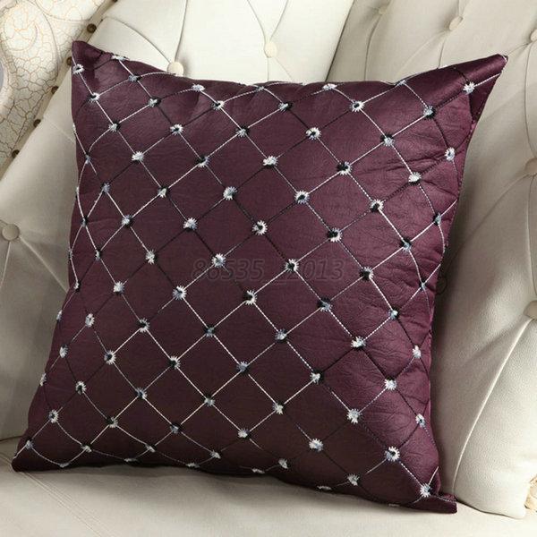 Elegant Plaid Throw Pillow Case Home Bed Sofa Decorative Cushion Cover Shell eBay