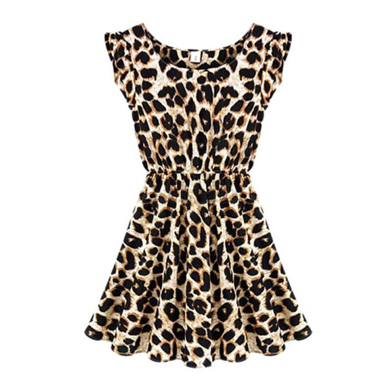 Chic-Sexy-Lady-Sleeveless-Leopard-Casual-Dress-Coctail-Party-Evenning-Mini-Dress