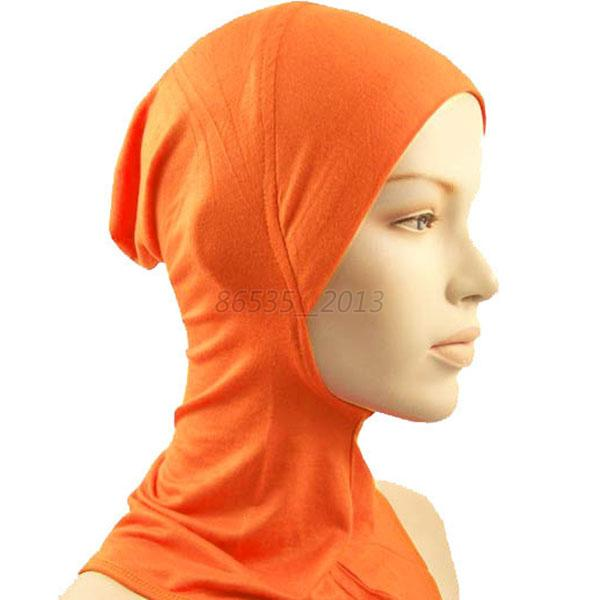 Solid-Bonnet-Hijab-Neck-Cover-Muslim-Islamic-Wrap-Scarf-Under-Hats-Multi-color