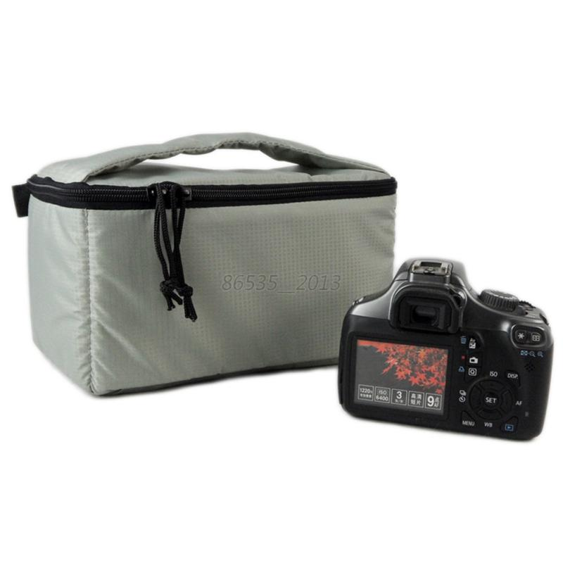 Camera/video Bags Digital Gear Bags Capable Edal Water-resistant Dslr Padded Insert Case Bag Waterproof Zipper Removable Partition Camera Bags