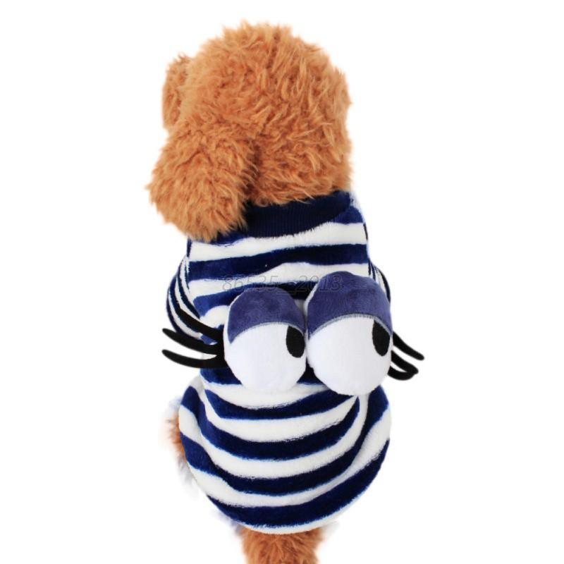 Small-Pet-Dog-Puppy-Shirt-Clothes-Vest-Doggie-Eyes-Pattern-Apparel-Costume-New